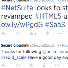A screenshot of the Secure Cloudlink Twitter account | Tribus Creative - social media management for small business